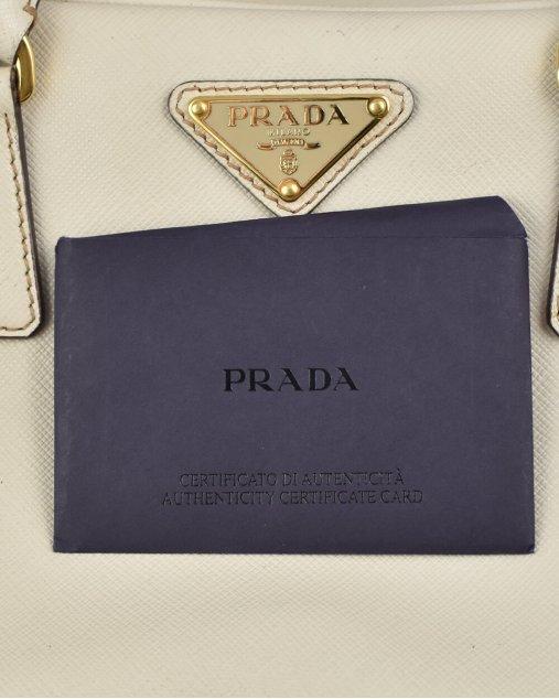 Bolsa Prada Galleria mini creme