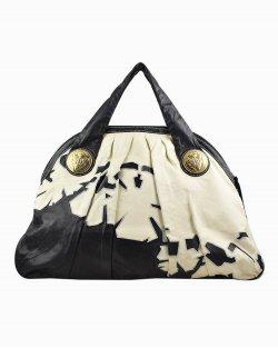Bolsa Gucci Embroidered Hysteria Top Handle de Couro Bicolor