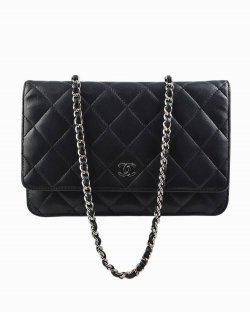 Bolsa Chanel WOC de Couro Preto
