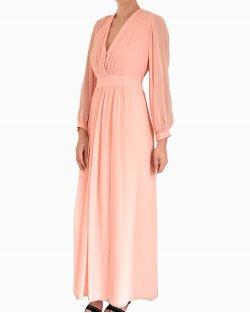 Vestido Longo Candy de Seda Coral