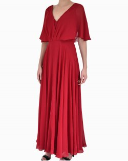 Vestido Longo Candy de Seda Vermelho