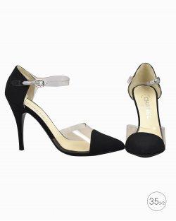 Sapato Chanel Interlocking CC Logo D'Orsay Preto