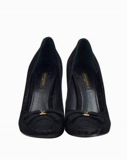 Peep Toe Louis Vuitton de Camurça Preto