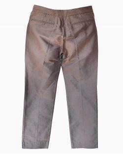Calça Balenciaga de Algodão e Seda Cinza