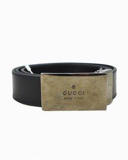Cinto Gucci de Couro Preto