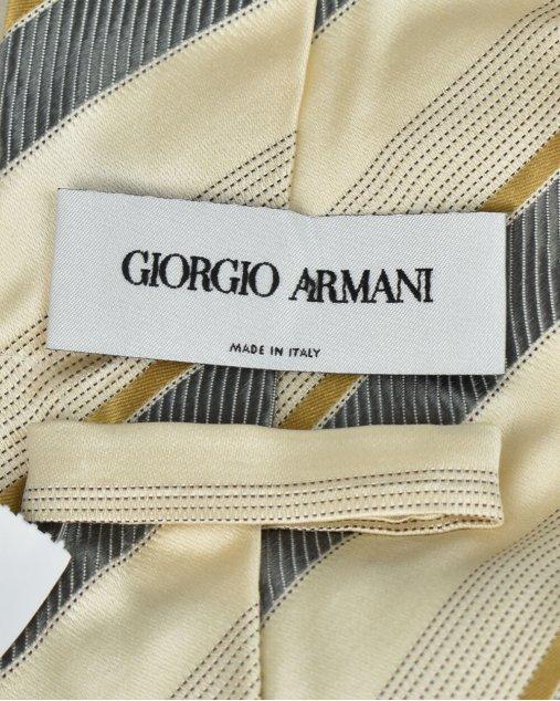Gravata Giorgio Armani Bege e Cinza
