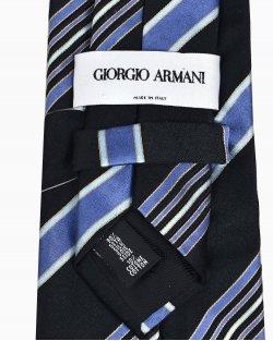 Gravata Giorgio Armani de Seda com Fundo Preto
