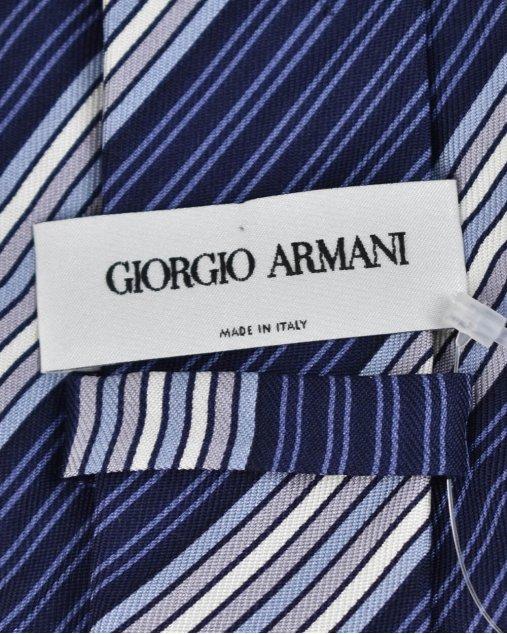 Gravata Giorgio Armani de Seda em Tons de Azul