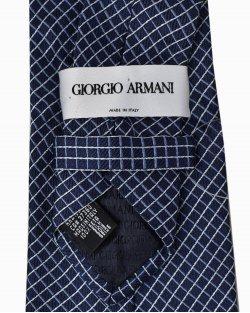Gravata Giorgio Armani de Seda Azul Marinho
