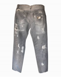 Calça Jeans Destroyed Dolce & Gabbana Cinza