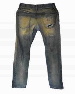 Calça Jeans Destroyed Dolce & Gabbana Lavagem Clara