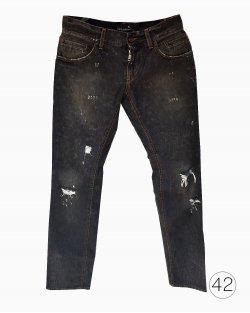 Calça Jeans Destroyed Dolce & Gabbana Preta