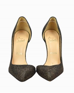 Sapato Christian Louboutin Iriza 100 Dourado