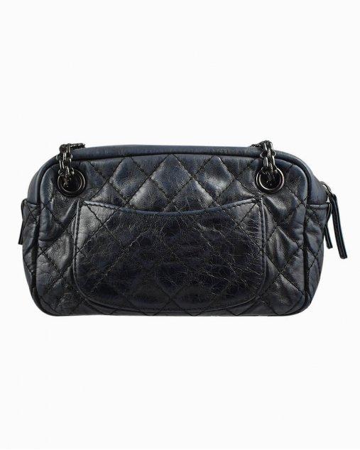 Bolsa Chanel Camera de Couro Preto