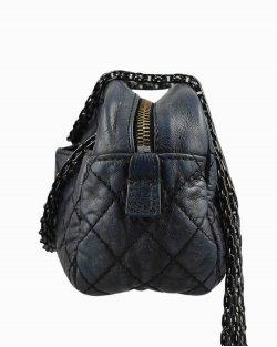 Bolsa Chanel Camera de Couro Azul