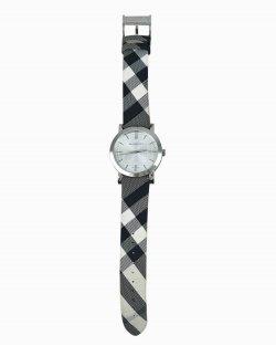 Relógio Burberry Heritage Nova Check Silver Dial BU1378