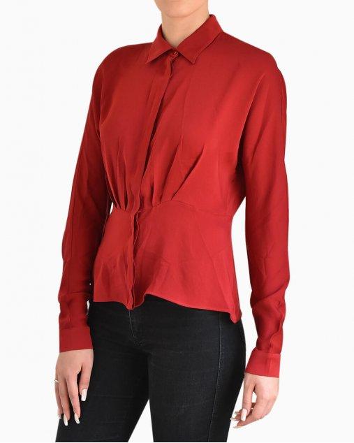 Camisa de Seda Max Mara Vermelha