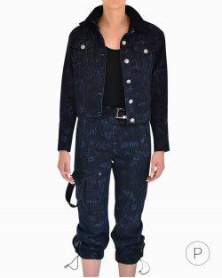 Conjunto Jeans 2 Peças Andrea Bogosian Azul Marinho