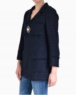 Casaco Tweed Chanel Azul Marinho