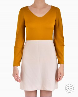 Vestido Diane Von Furstenberg Bicolor