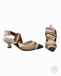 Sapato Fendi Colibri Marrom
