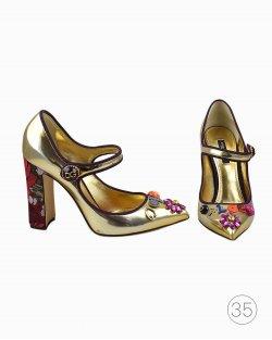 Sapato Dolce & Gabbana Queen Off Love Dourado
