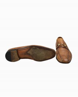 Sapato Gucci de Couro Caramelo Vintage
