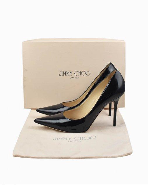 Sapato Jimmy Choo Anouk de Verniz Preto