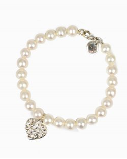 Pulseira Tiffany & Co. Olive Leaf Pearl Heart