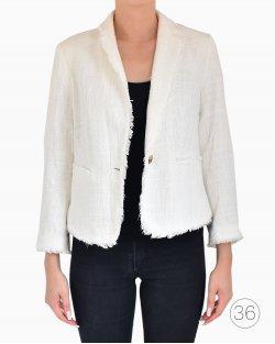 Casaco Ann Taylor de Tweed Branco