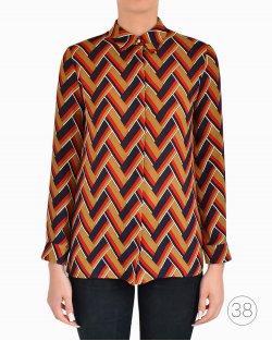 Camisa Gucci de Seda Tricolor