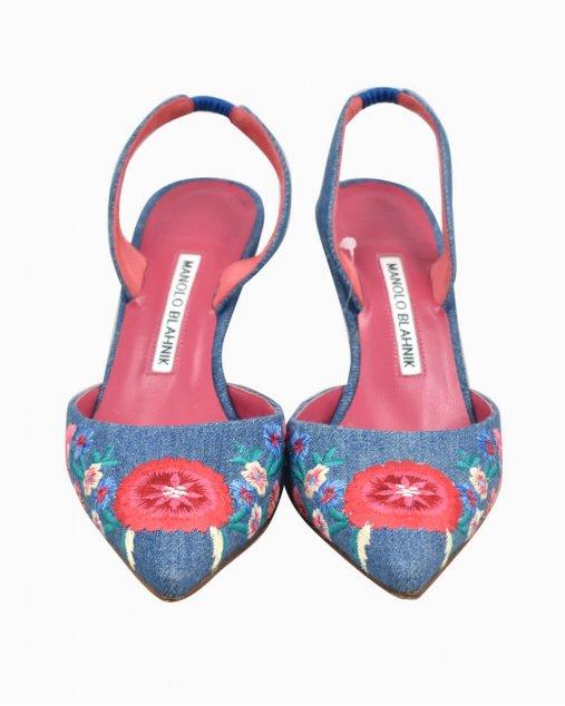 Sapato Manolo Blahnik Carolyne Jeans