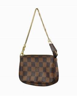 Bolsa Louis Vuitton Pochette mini Damier Ébene