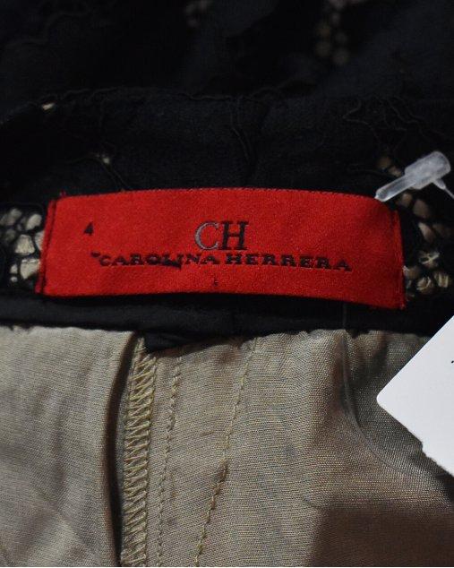 Calça Carolina Herrera em renda preta