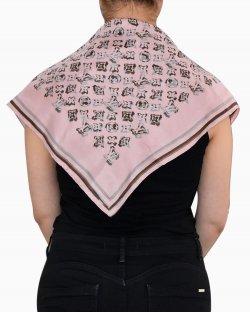 Lenço Louis Vuitton seda logo