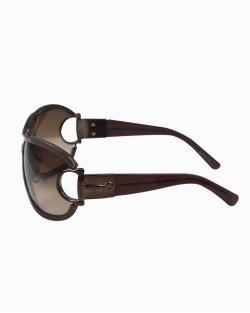 Óculos escuro Gucci vazado marrom