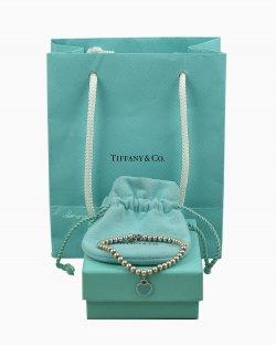 Pulseira Tiffany & Co. de Prata com Berloque de Coração