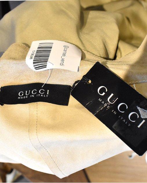 Blazer Gucci de Camurça Bege