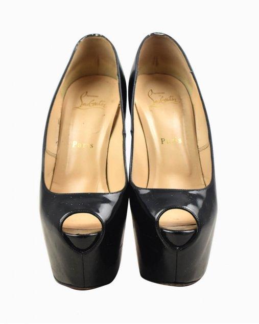 Sapato Louboutin Bianca 140 peep toe