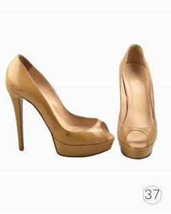 Sapato Louboutin Bianca 120 peep toe