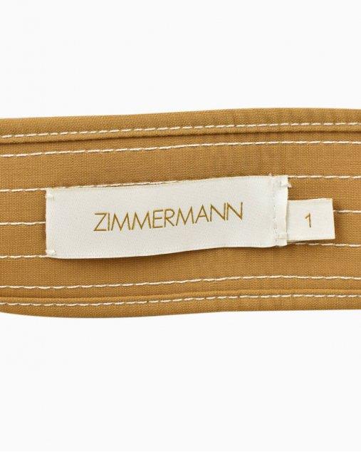 Cinto Zimmermann com dupla fivela bege