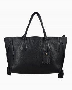 Bolsa Longchamp em couro preta