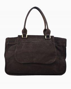 Bolsa Longchamp camurça marrom