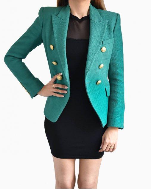 Blazer Balmain algodão verde
