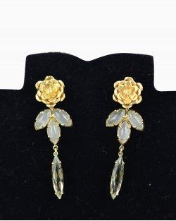 Brincos Carla Amorim flor ouro