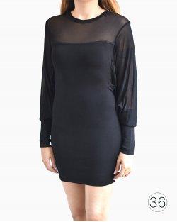 Vestido Balmain manga longa preto