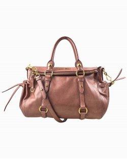 Bolsa Miu Miu couro rosa