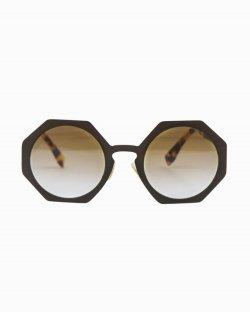 Óculos de sol Fendi Octógono marrom FF0152/S