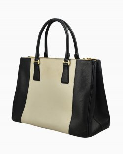 Bolsa Prada Galleria bicolor double-zip