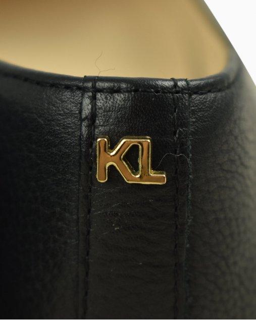Sapatilha Karl Lagerfeld couro preto
